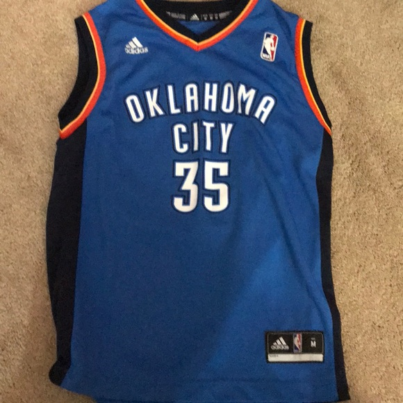 detailed look 00de4 5d5a8 Kevin Durant OKC jersey